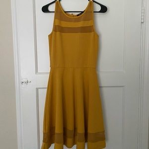 Mustard yellow boutique dress